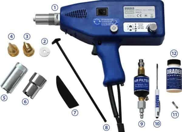 Almond Drader Injectiweld W30.0000 lasapparaat voor PE PP en LLDPE kunststof lasset
