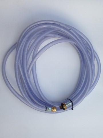 10m. PVC vacuümslang met bajonet koppeling