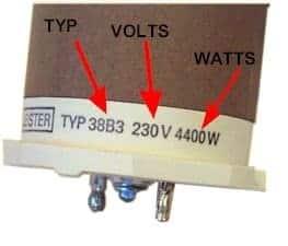 Element 3x380V/7500W tbv L62/LV5000 (38B5)
