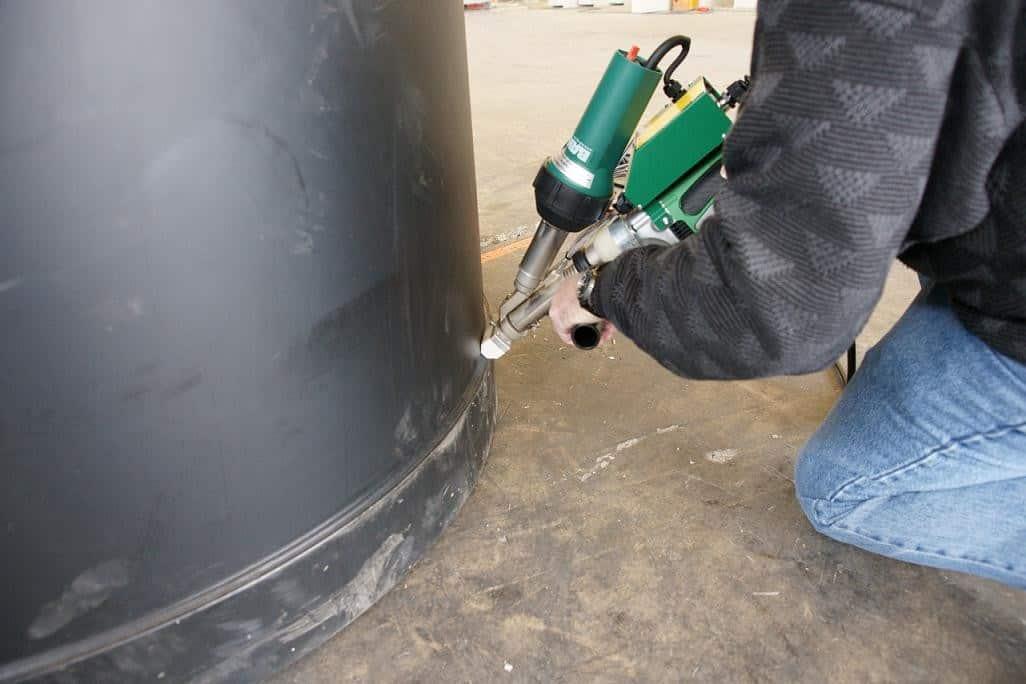 HDPE vat lassen met Dohle lasextruder