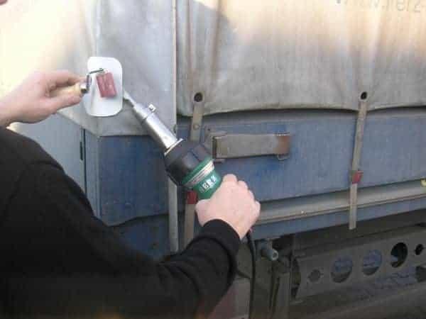 lasapparaat voor vrachtwagen kappen en zeildoek