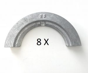 Set WI-FIX® Spaninzetten DA 75 voor Widos Miniplast