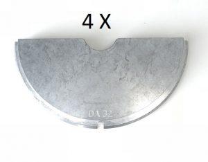 Set Spaninzetten DA 32 voor W2500/160